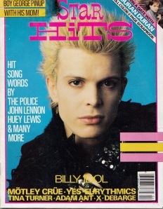 April 1984 Billy Idol cover