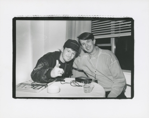 We just couldn't get enough of New Kids on the Block in our magazines. Amazingly, we even interviewed them on a few occasions. Here's pictorial proof of Mark Wahlberg and editor Steve. - Steve